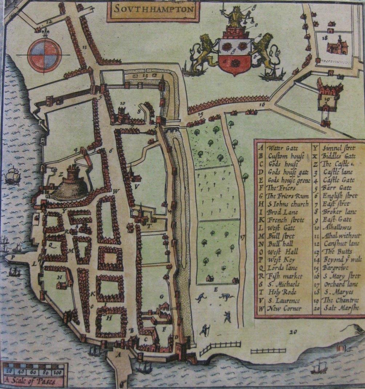 John Speed's map of Southampton