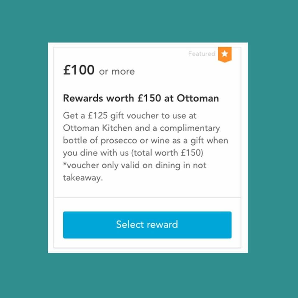 Ottoman Kitchen reward voucher scheme screenshot