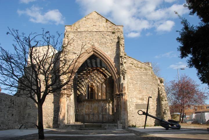 Holyrood church anchor and door way
