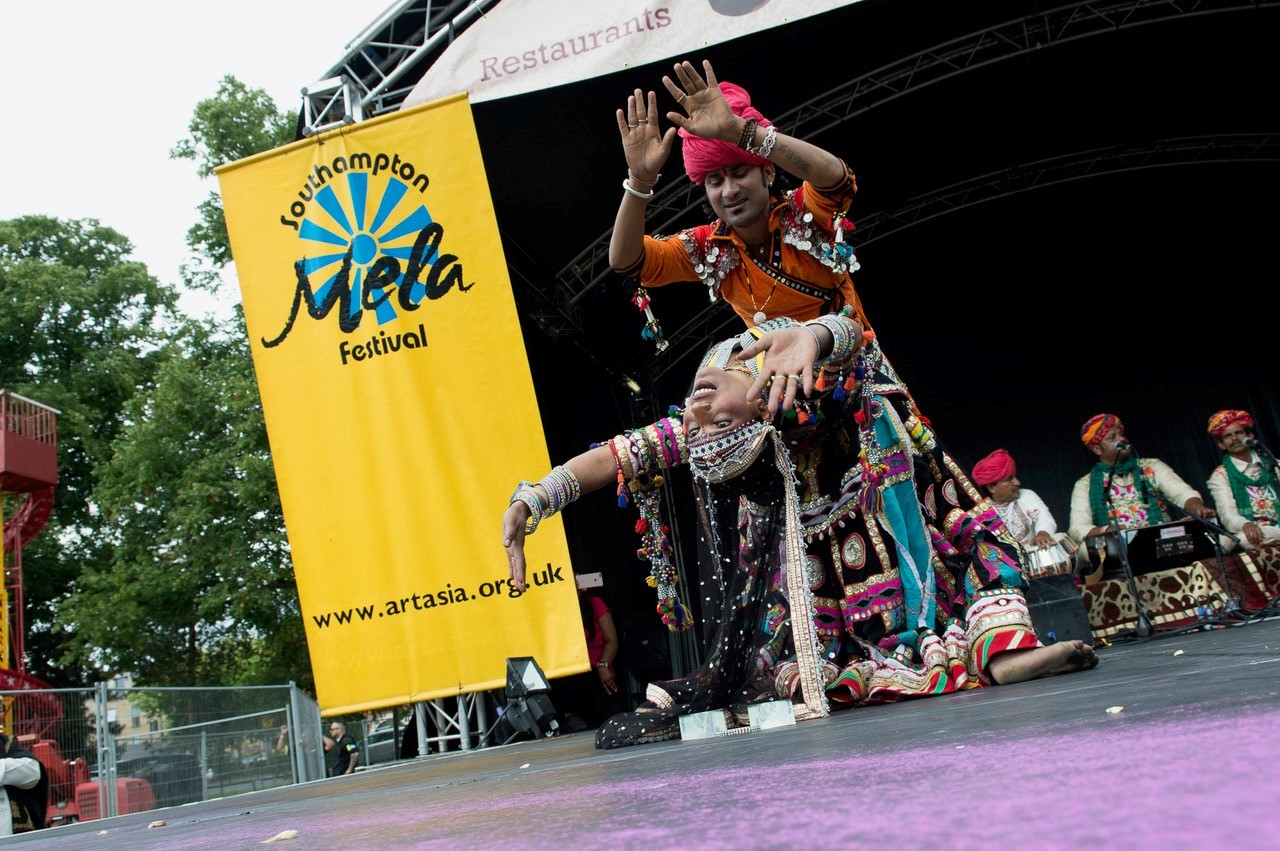 performers at Mela Festival Southampton