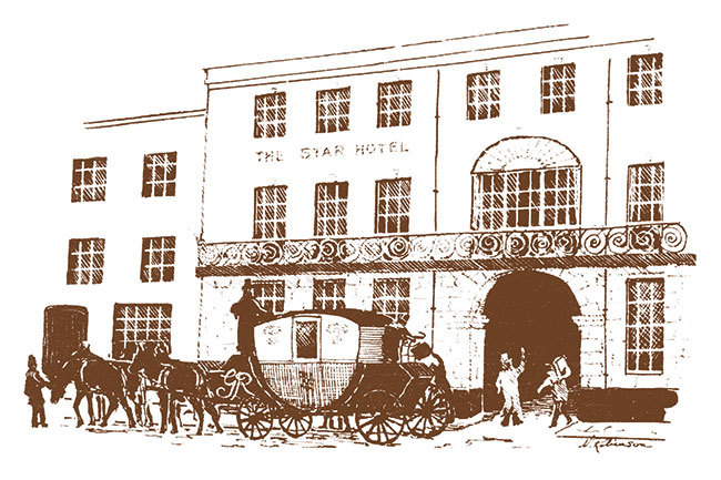 sketch of The Star Hotel in Southampton
