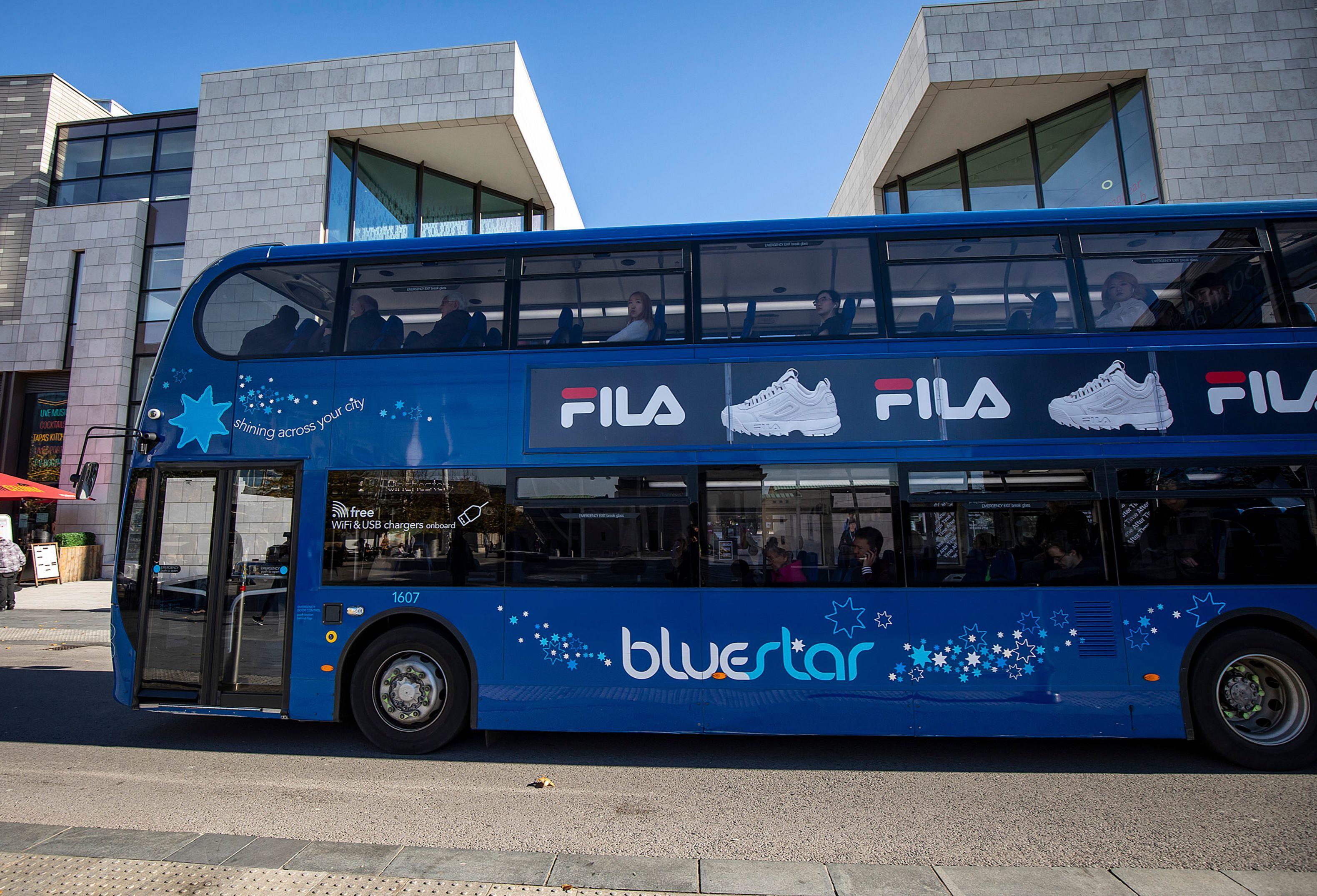 Bluestar bus in Southampton