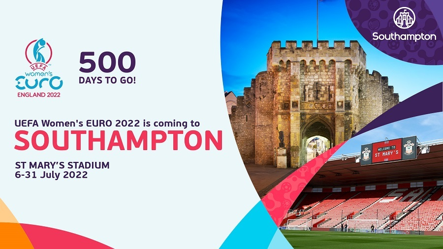 20254 FA WMN SNRS UEFA WEURO 2022 500 days to go campaign 16 X9 V4