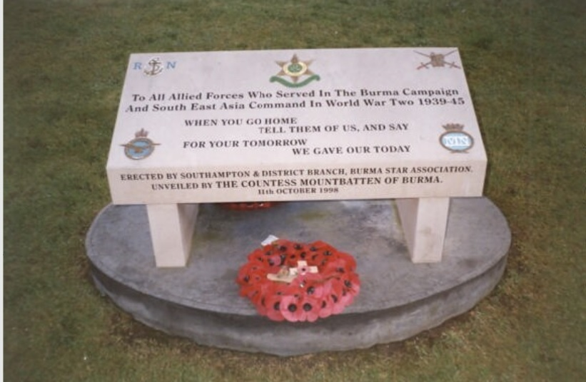 Burma campaign plaque Grosvenor Square