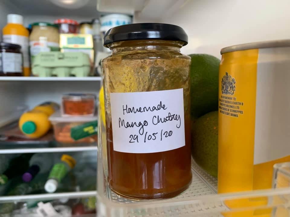 Homemade mango chutney
