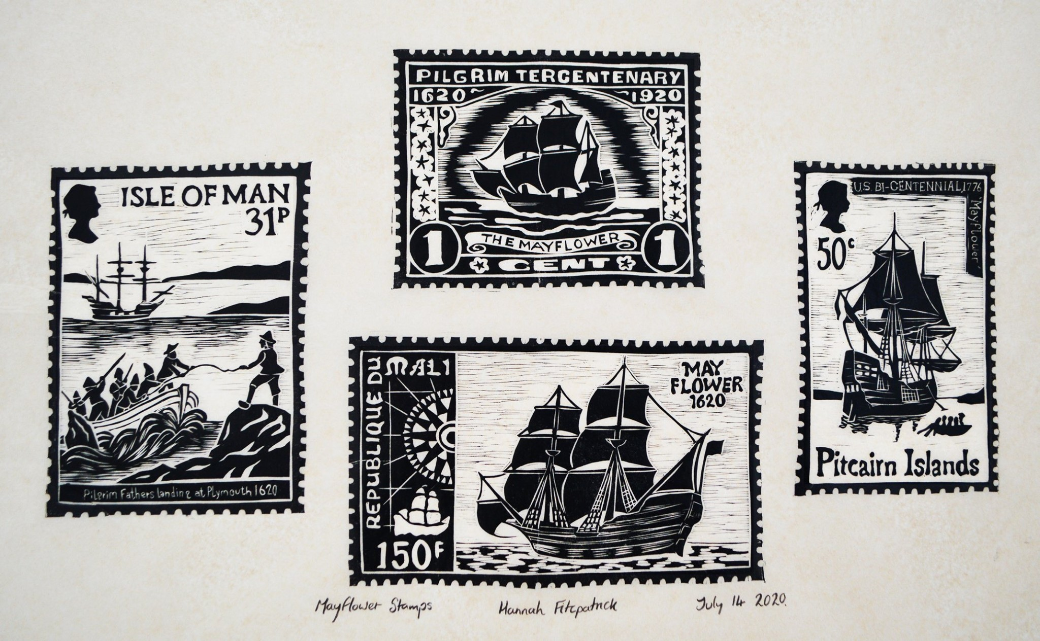 In search of a new world exhibition entry Mayflowe stamps